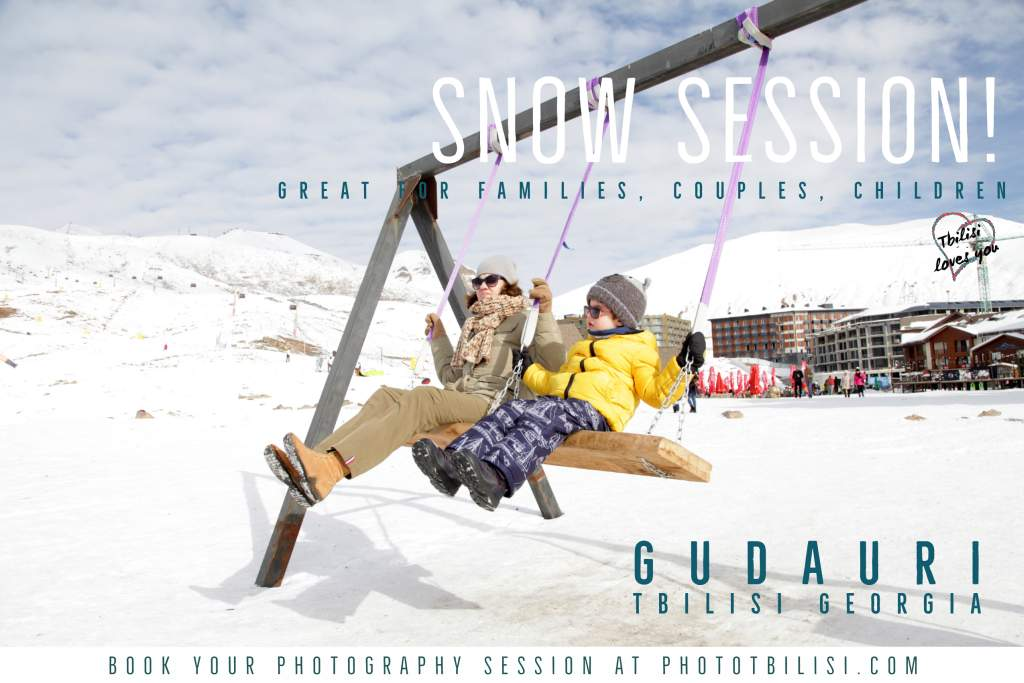 Gudauri snow photography session